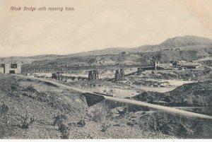 Attock Bridge with running Train , India , 00-10s
