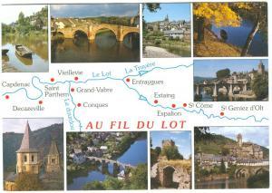 France, AU FIL DU LOT, used Postcard