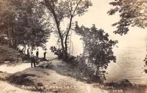 Spicer Minnesota Green Lake Real Photo Antique Postcard K31245