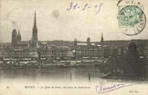 CPA ROUEN - Le quai de PARIS (154392)