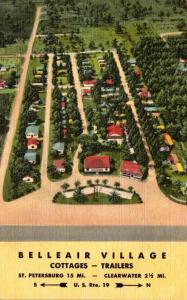Florida Clearwater Belleair Village Cottages & Trailers Curteich