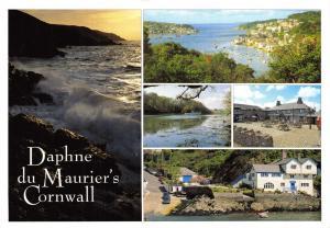 Daphne du Maurier's Cornwall Multi View Postcard, Fowey Estuary, St Austell 30E
