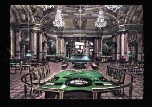016801 MONACO Monte-Carlo casino Interior postcard Old tinted