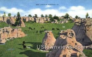 Montana Bad Lands, Montana Post Card     ;     Montana Bad Lands, MT Montana ...