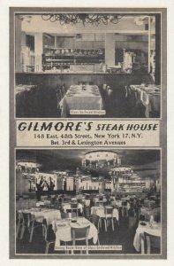 NEW YORK CITY, 1930s ; Gilmore's Steak House