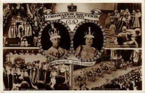 CPA AK Coronation King George VI Q Mother Elizabeth BRITISH ROYALTY (679744)