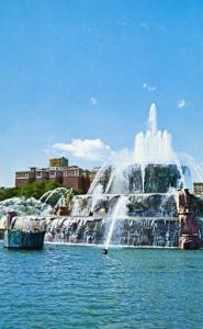 IL - Chicago, The Conrad Hilton & Buckingham Fountain