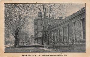 F23 Moundsville West Virginia Postcard c1910 Penitentiary Entrance 10