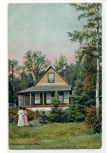 Sevona Cottage Camp Stella Sand Island Apostle Islands Wisconsin 1912 postcard