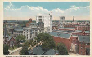 CHARLOTTE , North Carolina; 1910s; General View of The Business Section