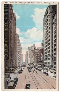 Chicago, Ill, State St. Looking South from Lake St.