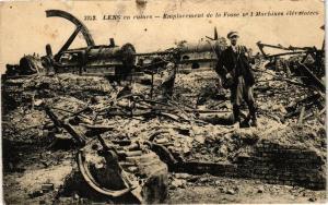 CPA Lens en ruines-Emplacement de la Fosse, Machines élévatoires (44167)