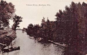 MADISON WISCONSIN~YAHARA RIVER POSTCARD 1910 PMK
