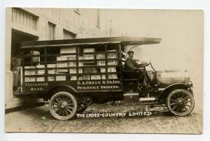 Fitchburg MA Wholesale Grocery Truck RPPC Real Photo Postcard