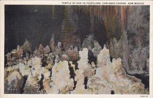 New Mexico Carlsbad Cavern Temple Of Sun In Fairyland