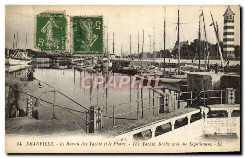 Old Postcard Deauville Yacht Basin and the Lighthouse Charter