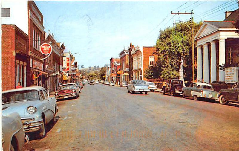 Tazewell VA Street View Store Front's Old Cars Western Auto Postcard