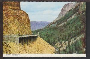 Golden Gate Canyon Yellowstone Postcard BIN