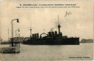 CPA ST-NAZAIRE Le Croiseur-cuirassé ERNEST-RENAN (864365)