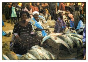 Fish market sellers Senegal