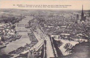 France Rouen Panorama et vue de la Seine