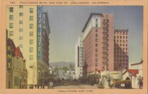 Hollywood Blvd and Vine Street, Hollywood, California