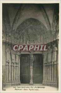 Old Postcard The Cathedral of Lausanne Portal Apostles