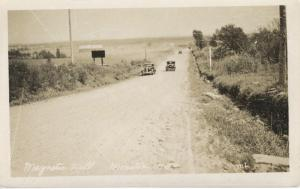 Magnetic Hill ~ Moncton NB New Brunswick ~ Old Cars Road Vintage RPPC Postcard