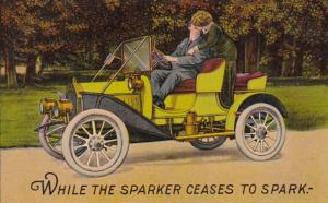 Romantic Couple In Car While The Sparker Ceases To Spark