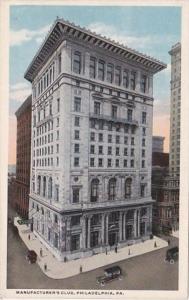 Pennsylvania Philadelphia Manufacturer's Club Curteich
