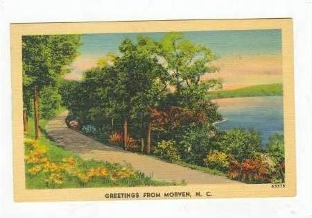 Greetings, MORVEN, North Carolina, PU-1942