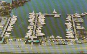 North Carolina Moorehead City Aerial View Of Yacht Basin
