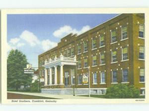 Unused Linen SOUTHERN HOTEL Frankfort Kentucky KY hr7338