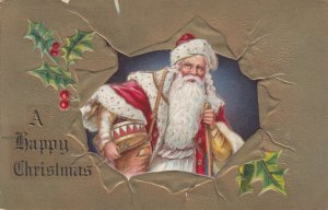 CHRISTMAS, 1909 ; Santa Claus & Drum