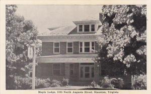 Maple Lodge , STAUNTON , Virginia , 20-40s