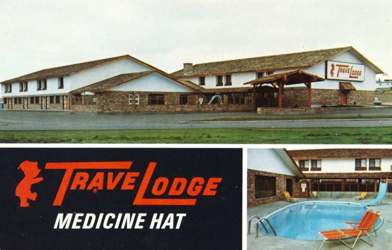 Travelodge Motor Inn Medicine Hat Alberta AB Alta Motel Unused Vintage Postcard