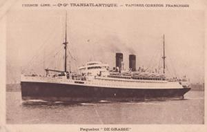 SS De Grasse Military French Ship Old Postcard
