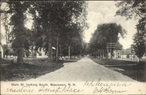 Boscawen NH Main St. c1905 Postcard