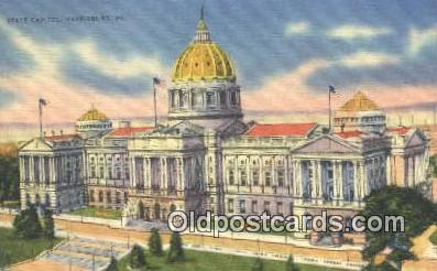 Harrisburg, Pennsylvania, PA  State Capital, Capitals Postcard Post Card USA ...