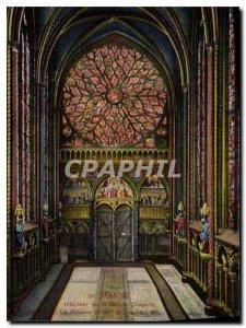 Old Postcard Paris Interior of the Sainte Chapelle