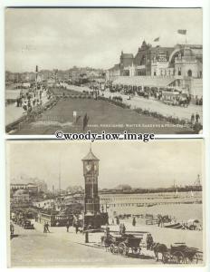 tp9667 - Lancs - Two Cards, Clocktower & Prom/Winter Garden,  Morecame- Postcard