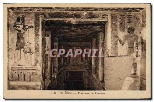 Postcard Ancient Egypt Thebes Egypt Tomb of Ramses