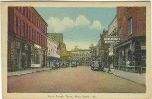 VTG postcard, Inglis Street, Truro, Nova Scotia, Linen