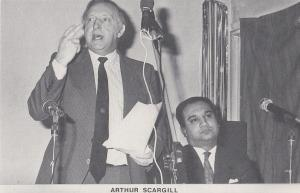 Arthur Scargill Labour MP Postcard