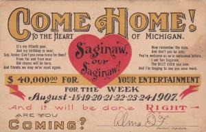 Michigan Saginaw Semi-Centennial Celebration 1907