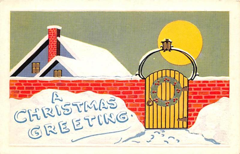 Post Card Old Vintage Antique Chrismas Greetings
