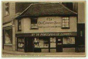 pc790 postcard UK London Old Curiosity Shop 1936 Used