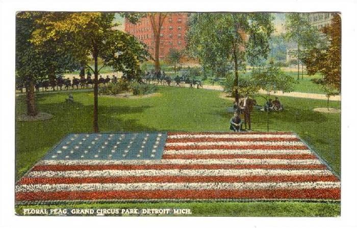 Floral Flag, Grand Circus Park, Detroit, Michigan, 00-10s