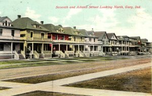 Gary, Indiana - The Houses on Seventh and Adams Street - in 1911