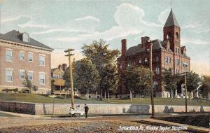 Scranton Pennsylvania c1906 Undivided Back Postcard Moses Taylor Hospital